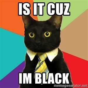 Business Cat - Is it cuz Im black