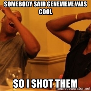 Kanye and Jay - Somebody said Genevieve was cool so i shot them