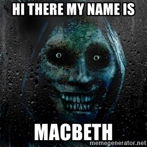 Uninvited house guest - Hi there my name is  macbeth