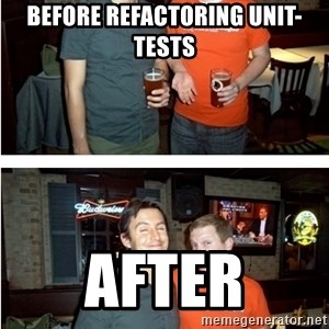 Before and After - Before Refactoring Unit-Tests After