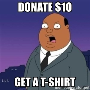 Ollie the Weatherman - DONATE $10 get a t-shirt
