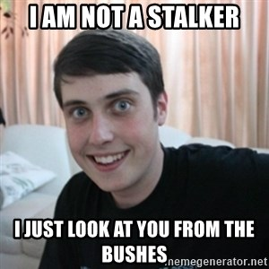The Overly Attached Boyfriend - i am not a stalker i just look at you from the bushes
