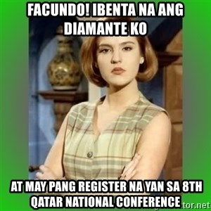 Donya Angelica - FACUNDO! IBENTA NA ANG DIAMANTE KO  AT MAY PANG REGISTER NA YAN SA 8th QATAR NATIONAL CONFERENCE