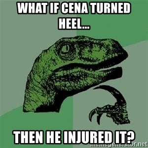 Velociraptor Xd - WHAT IF CENA TURNED HEEL... THEN HE INJURED IT?
