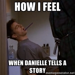 Bored sleeping Joey - how i feel when danielle tells a story