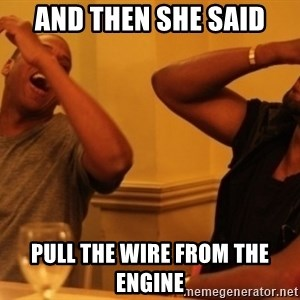 Kanye and Jay - AND THEN SHE SAID PULL THE WIRE FROM THE ENGINE