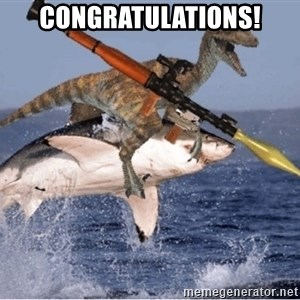 raptor shark - CONGRATULATIONS!