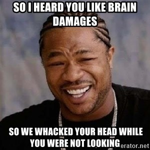 Yo Dawg - So I Heard You Like Brain Damages  So We Whacked Your head While You Were Not Looking
