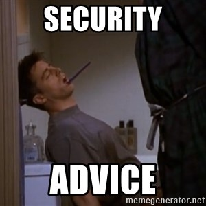 Bored sleeping Joey - security advice