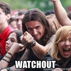 Ridiculously Photogenic Metalhead Guy -  WATCHOUT