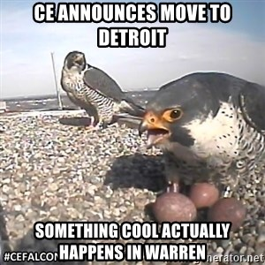 #CEFalcons - CE announces move to detroit something cool actually happens in warren