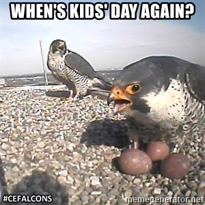 #CEFalcons - When's Kids' day again?