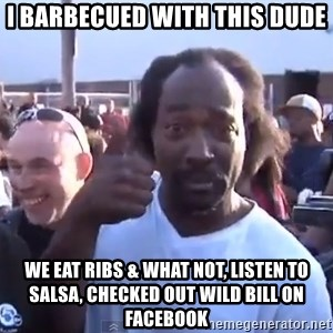 charles ramsey 3 - I barbecued with this dude we eat ribs & what not, listen to salsa, checked out wild bill on facebook
