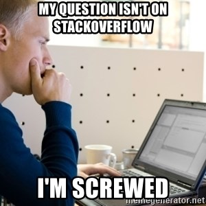 Computer Programmer - MY QUESTION ISN'T ON STACKOVERFLOW I'M SCREWED