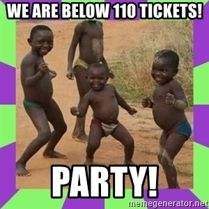 african kids dancing - We are below 110 tickets! Party!