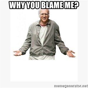 Larry David - Why you Blame me?