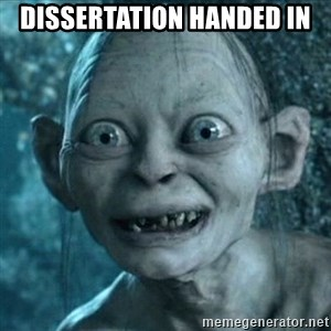 Smeagol is free! - dissertation Handed in