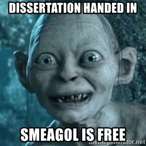 Smeagol is free! - Dissertation handed in SMeagol is free