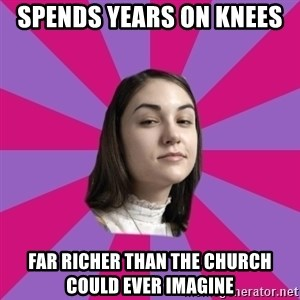 Sasha Grey - Spends years on knees  far richer than the church could ever imagine