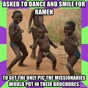 african kids dancing - asked to dance and smile for ramen to get the only pic the missionaries would put in their brochures