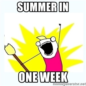 All the things - summer in one week