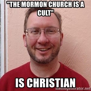 "Asshole Christian missionary - ""the mormon church is a cult"" is christian"