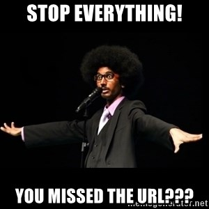 AFRO Knows - stop everything! you missed the url???