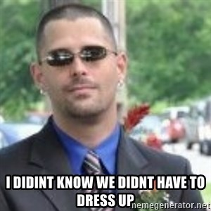 ButtHurt Sean -  i didint know we didnt have to dress up