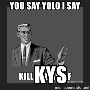 kill yourself guy - you say YOLO i say     KYs
