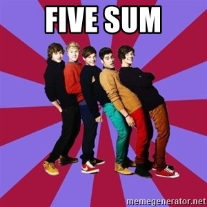 typical 1D - FIVE SUM