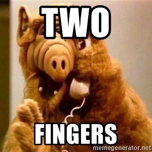 Inappropriate Alf - two  fingers
