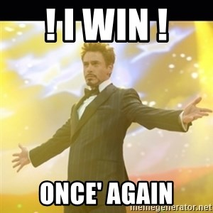 Tony Stark Expo - ! i win ! once' again