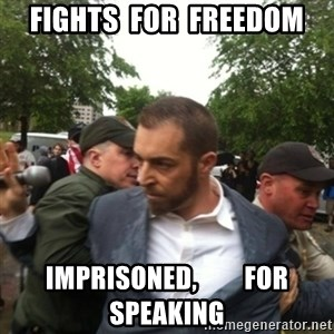 Adam Kokesh - Fights  For  Freedom Imprisoned,         For Speaking