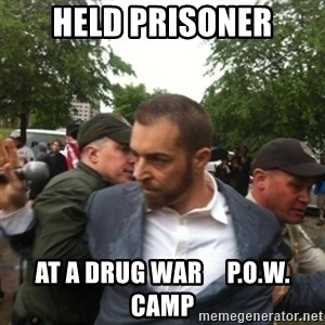 Adam Kokesh - Held Prisoner At A Drug War     P.O.W. Camp