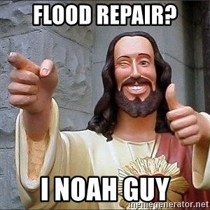Jesus - flood repair? i noah guy