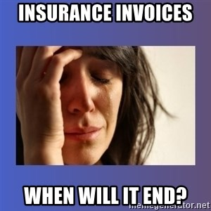 woman crying - Insurance invoices  when will it end?