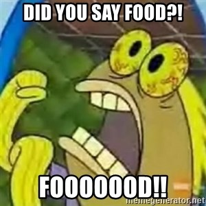 spongebob chocolate guy - did you say food?! fooooood!!