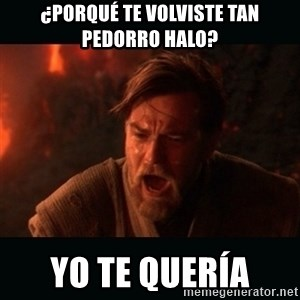 "Obi Wan Kenobi ""You were my brother!"" - ¿porqué te volviste tan pedorro halo? yo te quería"