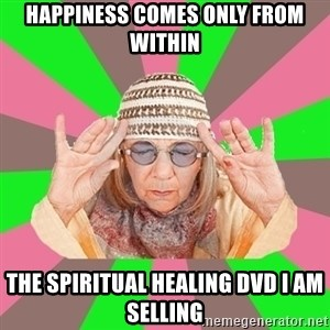 New Age Aunt - Happiness comes only from within the spiritual healing dvd I am selling