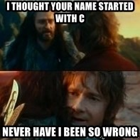 Never Have I Been So Wrong - I thoUght your name staRted with c Never haVe I been so wRong