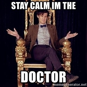 Hipster Doctor Who - stay calm im the doctor