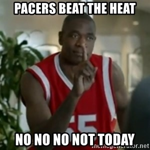 Dikembe Mutombo No No NO - Pacers Beat the heat No no no not today