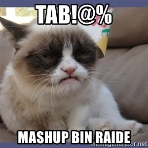 Birthday Grumpy Cat - tab!@% mashup bin raide