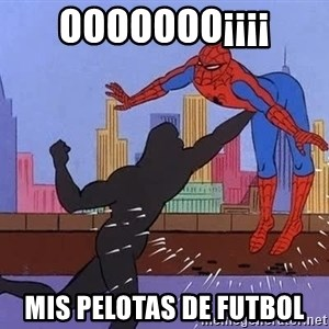 crotch punch spiderman - OOOOOOO¡¡¡¡ MIS PELOTAS DE FUTBOL