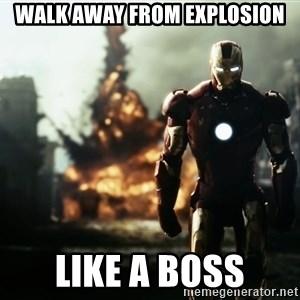 iron man explosion - WAlk away from explosion Like a boss