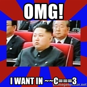 kim jong un - OMG! i want in ~~C===3