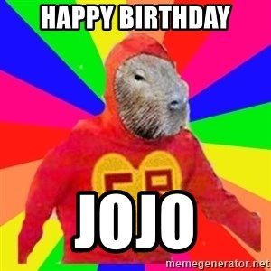 capivara - Happy Birthday JoJo
