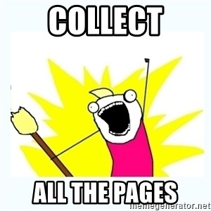 All the things - Collect ALL the pages
