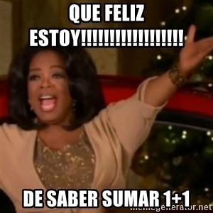 The Giving Oprah - que feliz estoy!!!!!!!!!!!!!!!!!! de saber sumar 1+1