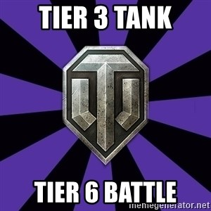 World of Tanks - tier 3 tank tier 6 battle